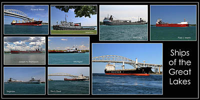Photograph - Great Lakes Ships 8 H by Mary Bedy