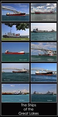 Photograph - Great Lakes Ships 8 V Final by Mary Bedy