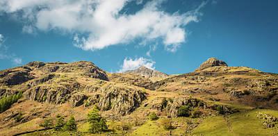 Digital Art - Great Langdale Panoramic by Mike Taylor