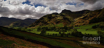 Photograph - Great Langdale Valley by John Collier