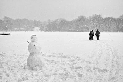 Photograph - Great Lawn Blizzard 2008 by Dave Beckerman