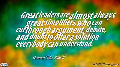 Digital Art - Great Leaders by Holley Jacobs