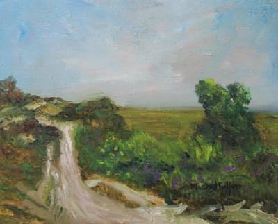 Painting - Great Marsh Walking Path by Michael Helfen