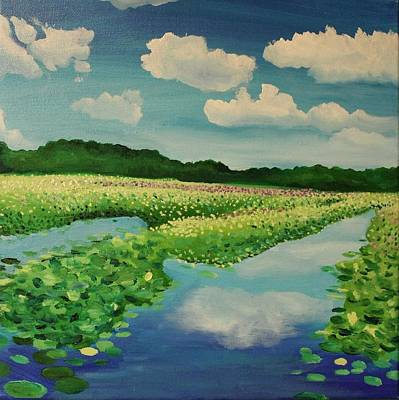 Concord Massachusetts Painting - Great Meadows by Sarah Iwany