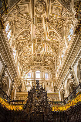 Great Mosque Photograph - Great Mosque Of Cordoba Ceiling - Cordoba Spain by Jon Berghoff