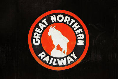 Photograph - Great Northern Logo by Todd Klassy