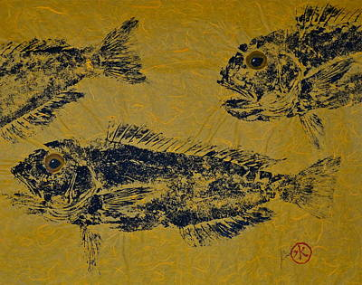 Mixed Media - Great Northern Tilefish - Golden Tilefish 1 by Jeffrey Canha