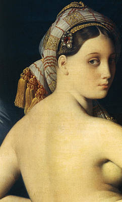 Ingres Painting - Great Odalisque by Ingres