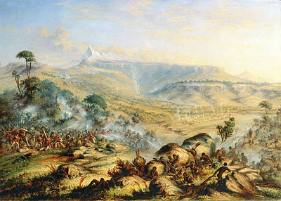 Soldier Painting - Great Peak Of The Amatola-british-kaffraria  by Thomas Baines