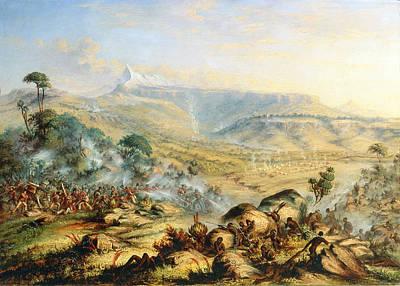 Great Peak Of The Amatola-british-kaffraria  Art Print by Thomas Baines