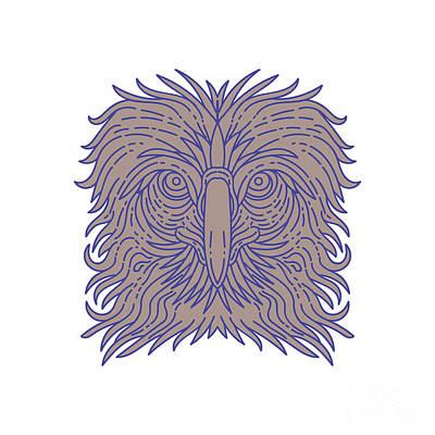 Philippine Eagle Wall Art - Digital Art - Great Philippine Eagle Head Mono Line by Aloysius  sc 1 st  Fine Art America & Philippine Eagle Art | Fine Art America
