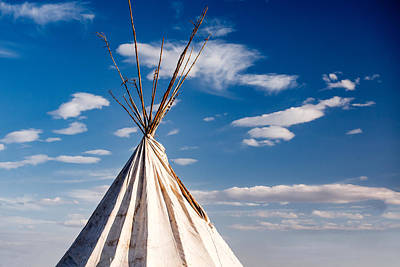 Tipi Photograph - Great Plains Tipi by Todd Klassy