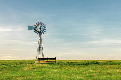 Photograph - Great Plains Windmill by Todd Klassy