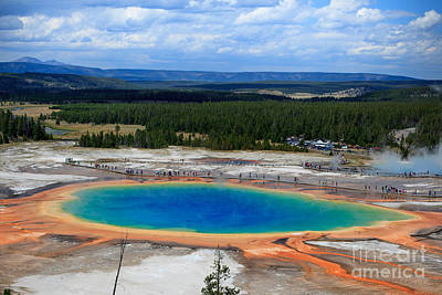 Photograph - Great Prismatic Spring   by DS Dodd