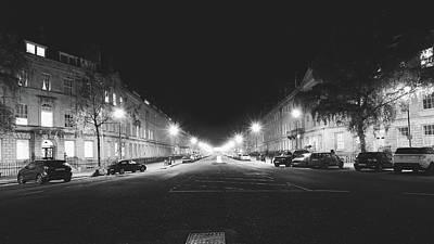Photograph - Great Pulteney Street In Bath By Night by Jacek Wojnarowski