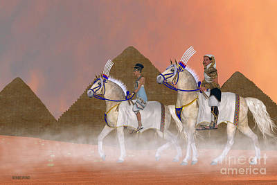 Archeology Painting - Great Pyramids And Nobility by Corey Ford