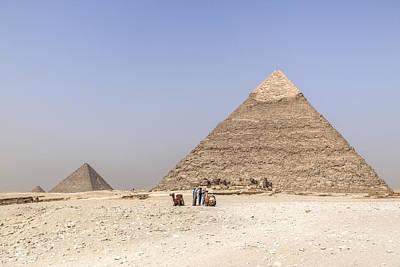 Great Pyramids Of Giza - Egypt Art Print