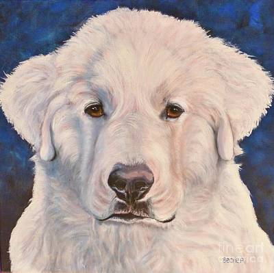 Painting - Great Pyrenees by Susan A Becker