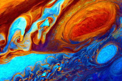 Digital Art - Jovian Turbulence by Chuck Mountain