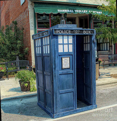 Photograph -  Great River Steampunk Festival Police Box by Luther Fine Art