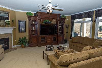 Photograph - Great Room - Right Side by John Johnson