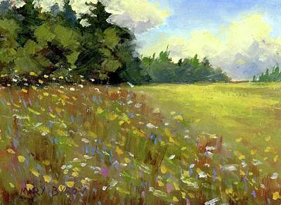 Painting - Great Salt Bay Meadows by Mary Byrom