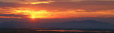 Great Salt Lake Photograph - Great Salt Lake At Sunset, Salt Lake by Panoramic Images