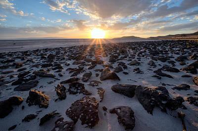 Photograph - Great Salt Lake Sunset  by David Andersen