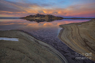 Great Salt Lake Sunset Art Print