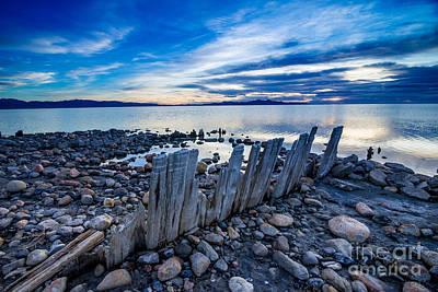 Photograph - Great Salt Lake Sunset - Utah by Gary Whitton