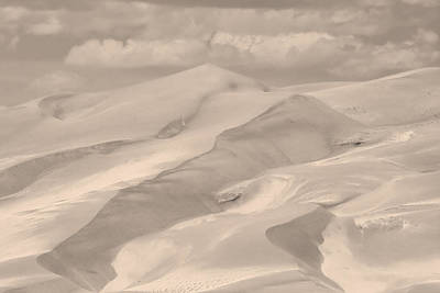 Photograph - Great Sand Dunes  - In Sepia by James BO Insogna