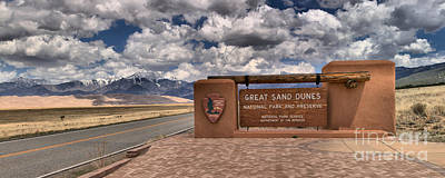 Photograph - Great Sand Dunes Entrance Panorama by Adam Jewell