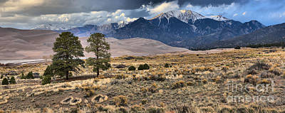 Photograph - Great Sand Dunes Landscape Panorama by Adam Jewell