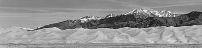 Photograph - Great Sand Dunes National Park And Preserve Panorama Bw by James BO  Insogna