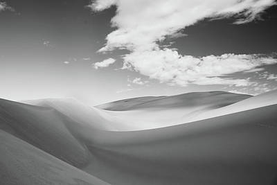 Great Sand Dunes National Park In Black And White Art Print