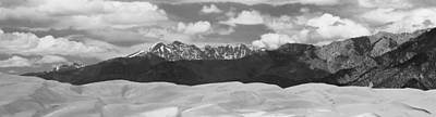 Great Sand Dunes Panorama 1 Bw Art Print by James BO  Insogna