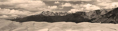 Photograph - Great Sand Dunes Panorama 1 Sepia by James BO  Insogna