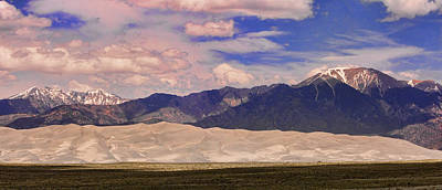 Photograph - Great Sand Dunes Panorama 2 by James BO  Insogna