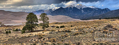 Photograph - Great Sand Dunes Panorama by Adam Jewell