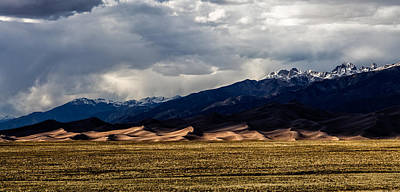 Great Sand Dunes Panorama Art Print
