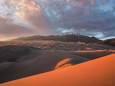 Photograph - Great Sand Dunes Sunset by Aaron Spong