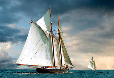 Windjammer Photograph - Great Schooner Race by Fred LeBlanc