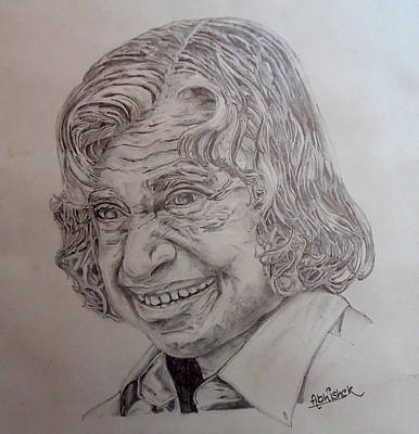 Kalam Painting - Great Scientist And Former Indian President  by Abhishek Chauhan