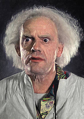 Character Portraits Painting - Great Scott - Doc Brown by Taylan Apukovska