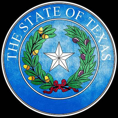 Hallmark Photograph - Great Seal Of The State Of Texas by Fry1989