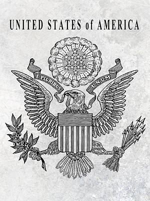 Great Seal Of The United States Art Print by Daniel Hagerman