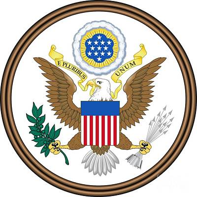 Great Seal Of The United States Art Print by Frederick Holiday