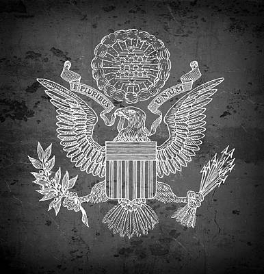 Great Seal Of The United States Of America Art Print by Daniel Hagerman