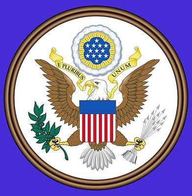 Great Seal Of The United States Art Print by Otis Porritt