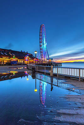 Photograph - Great Seattle Wheel by Evgeny Vasenev